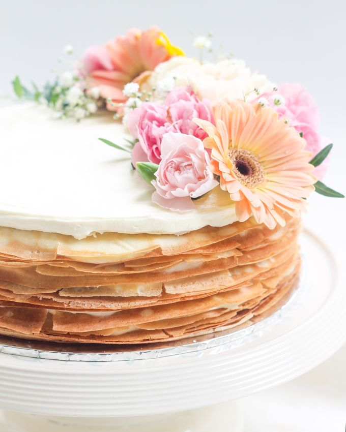 Party Cake - Mille Crepes with Fresh Flowers by Lareia Cake & Co. - 004