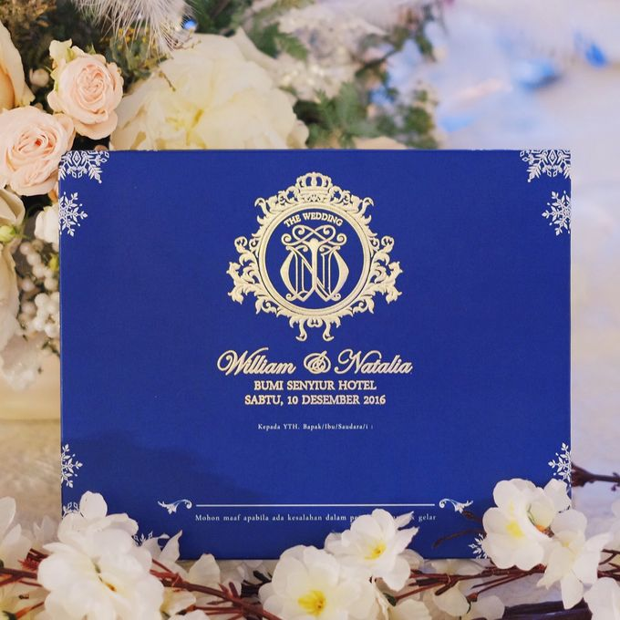 Winter themed Wedding Invitation for William & Natalia by Jolly's Little Dreams - 001