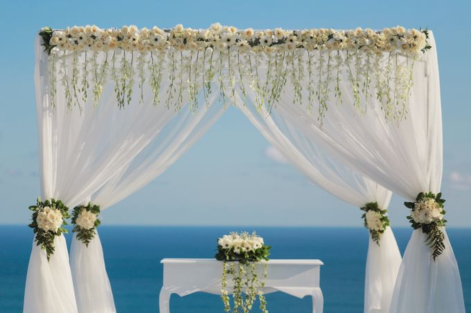 our chapel and water wedding decor by Jc Florist Bali - 002