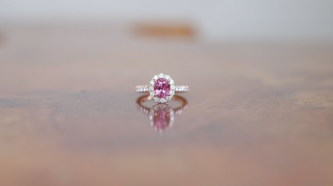 Pink Spinel Bespoke Engagement Ring by Heritage Gems Singapore - 001