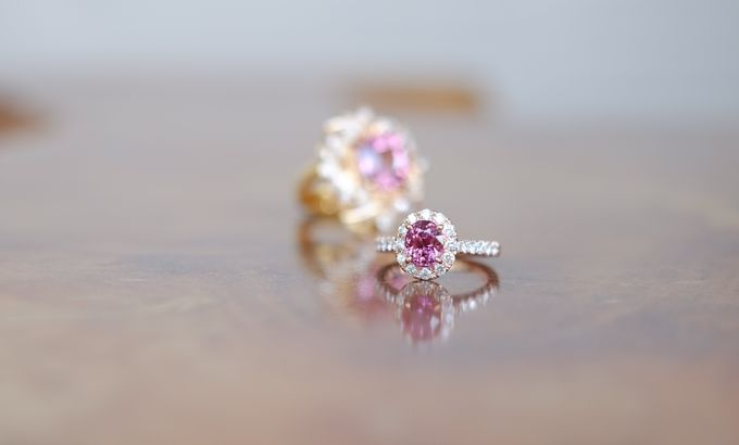 Pink Spinel Bespoke Engagement Ring by Heritage Gems Singapore - 002