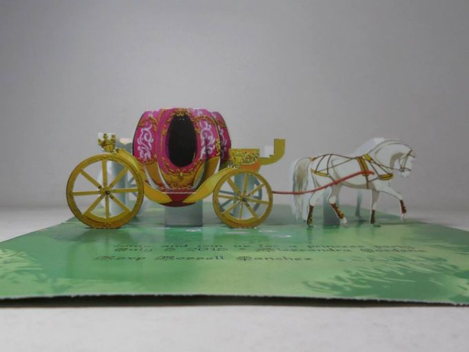 Royal Carriage Pop Up Invitation by Pop Up Occasions - 001