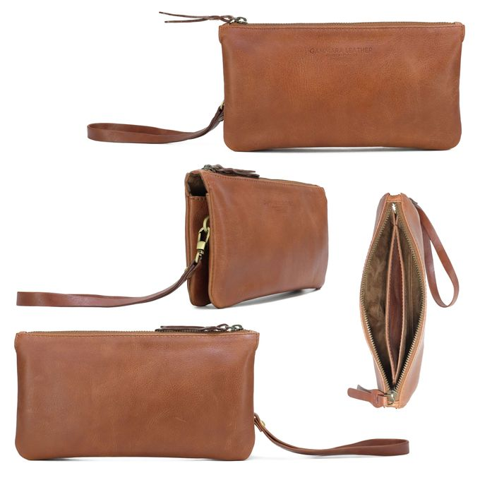 Double Pouch by GAMMARA LEATHER SOUVENIR - 001