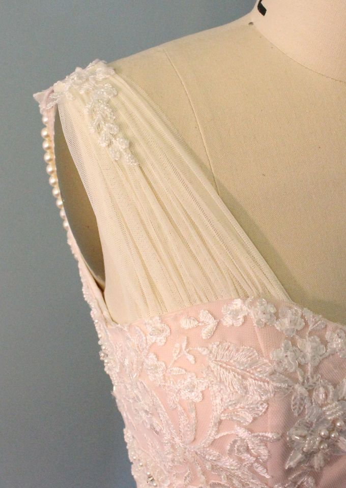 50c3a31a1 Add To Board Vintage Inspired Beaded Lace Wedding Dress with Draping Pearls  by Desiree Spice - 005