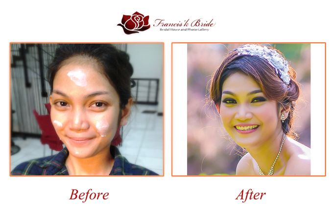 Before - After Make Up by Francis'k Bride - 011