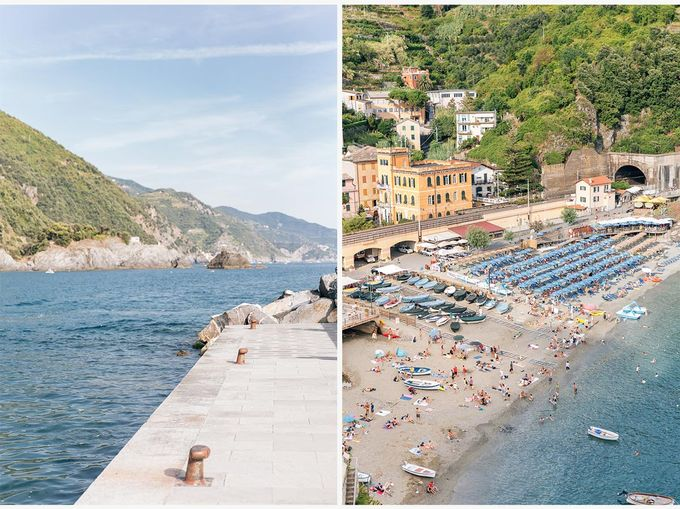 Romantic wedding proposal by the sea in Monterosso in Cinque Terre by PURE wedding photography - 002
