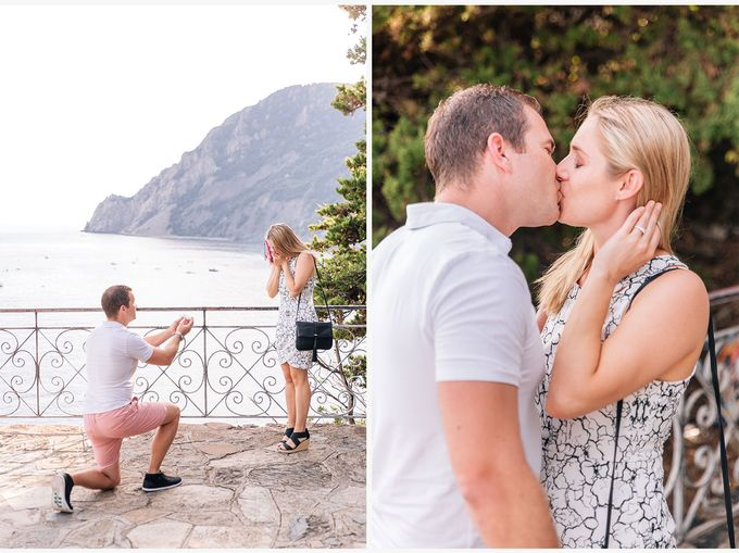 Romantic wedding proposal by the sea in Monterosso in Cinque Terre by PURE wedding photography - 004