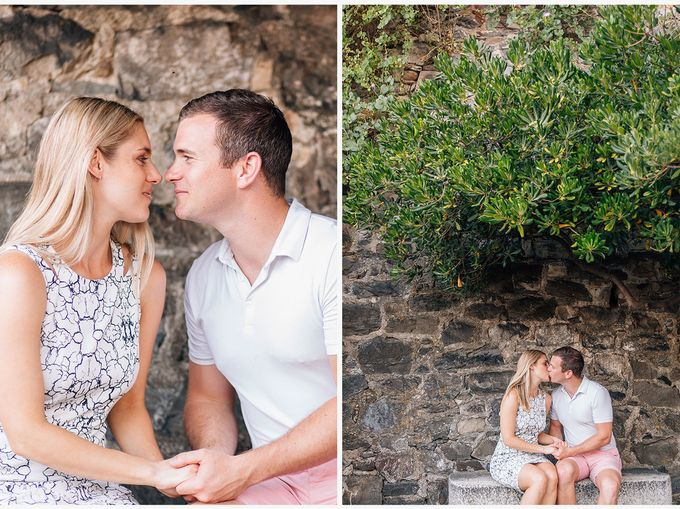 Romantic wedding proposal by the sea in Monterosso in Cinque Terre by PURE wedding photography - 009