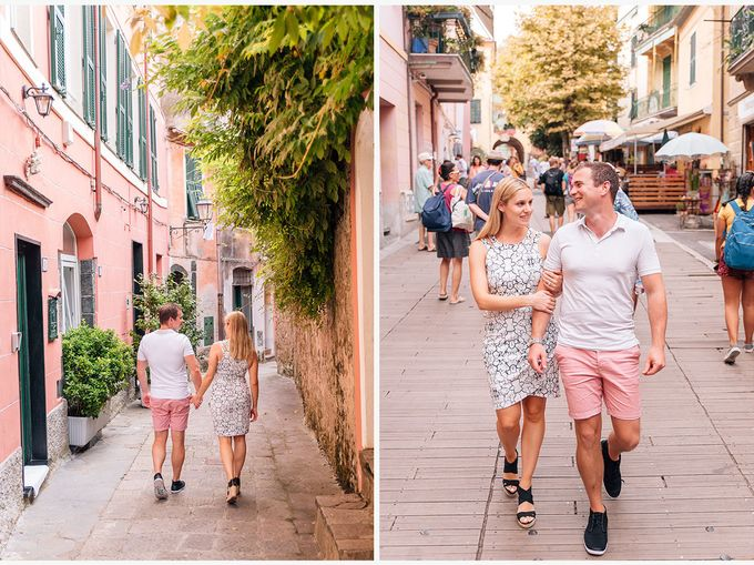 Romantic wedding proposal by the sea in Monterosso in Cinque Terre by PURE wedding photography - 011