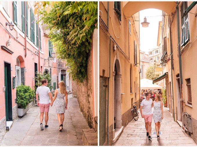Romantic wedding proposal by the sea in Monterosso in Cinque Terre by PURE wedding photography - 012