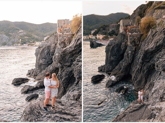 Romantic wedding proposal by the sea in Monterosso in Cinque Terre by PURE wedding photography - 016