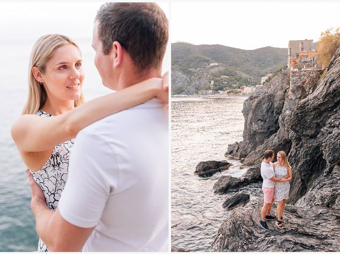Romantic wedding proposal by the sea in Monterosso in Cinque Terre by PURE wedding photography - 017