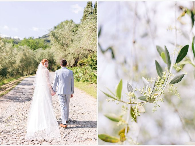Romantic wedding with a symbolic ceremony in Lucca through the olives of the Tuscan countryside by PURE wedding photography - 010