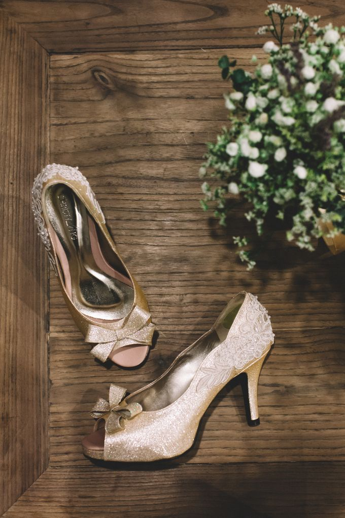 A DIY Rustic Vintage Church Wedding by Christy Ng Shoes - 001