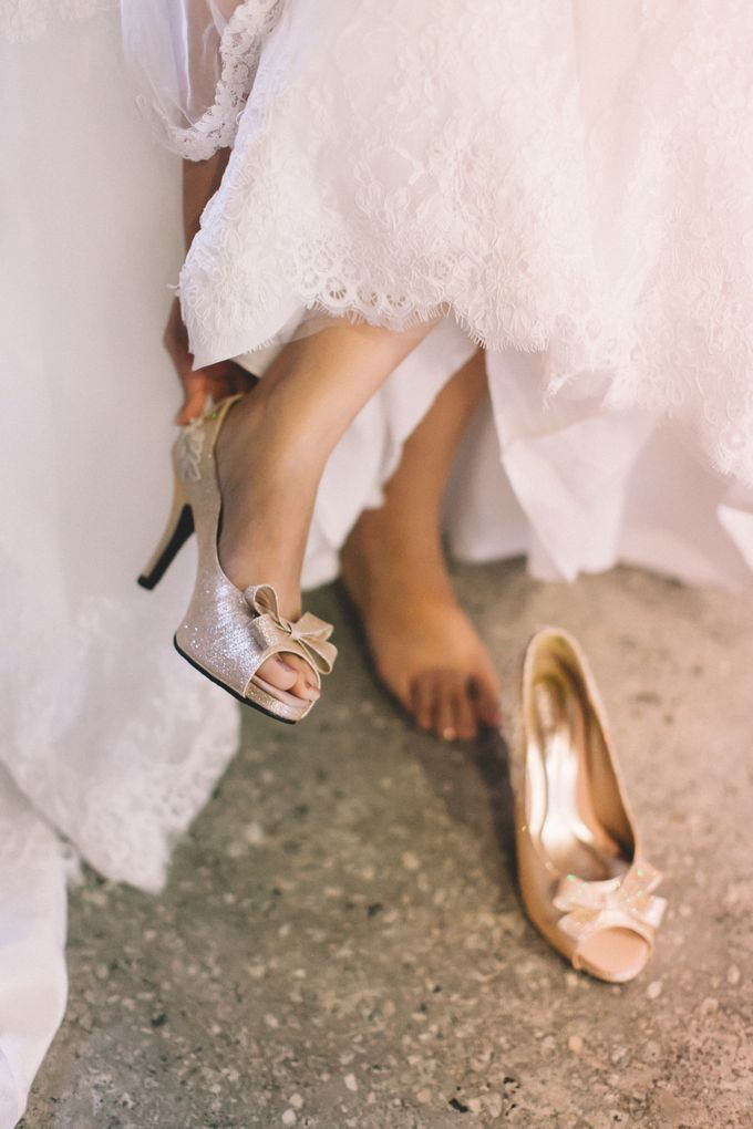 A DIY Rustic Vintage Church Wedding by Christy Ng Shoes - 002