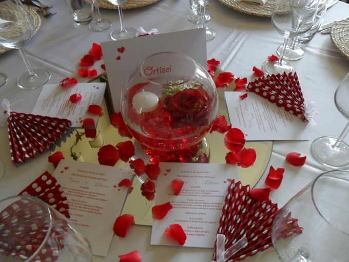 Red passion roses and hearts by Sogni Confettati - 035