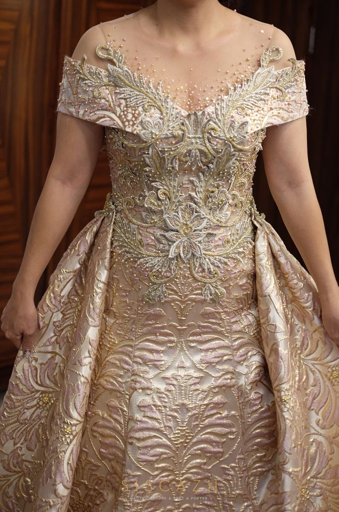 Rose Gold Evening Gown by Sisca Zh | Bridestory.com