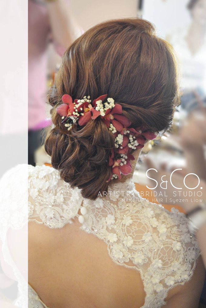 Bridal Hair Style by S & Co. Artistry Bridal Makeup Studio - 004