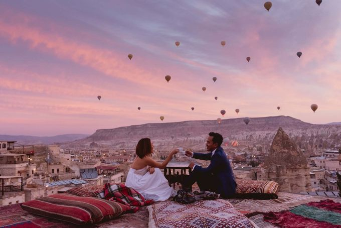 Add To Board Fadli And Sandy Pre Wedding Photo In Cappadocia By Dedot Photography