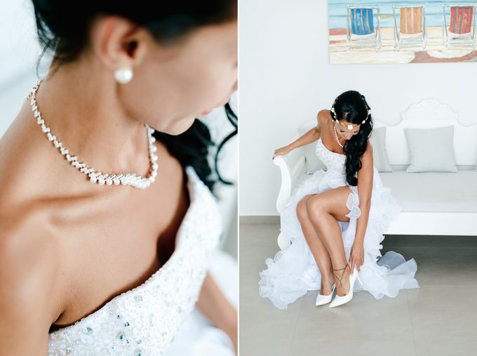 Intimate Santorini Dream Wedding by Teodora Simon Wedding Photography - 010