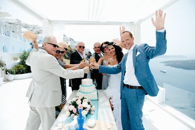 Intimate Santorini Dream Wedding by Teodora Simon Wedding Photography - 029