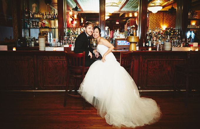 Japanese Inspired Prohibition Wedding by Bri Johnson Weddings - 028