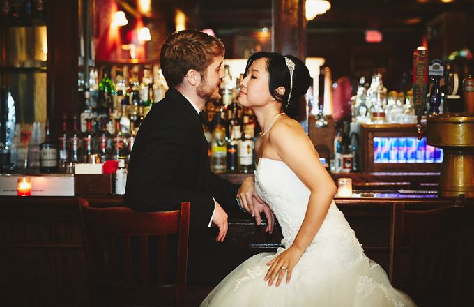 Japanese Inspired Prohibition Wedding by Bri Johnson Weddings - 029