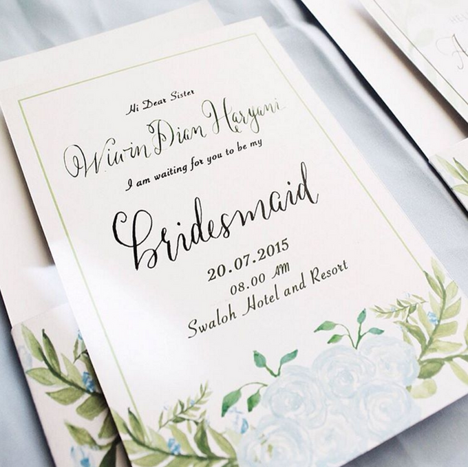 Bridesmaid cards by Meilifluous Calligraphy & Design - 001