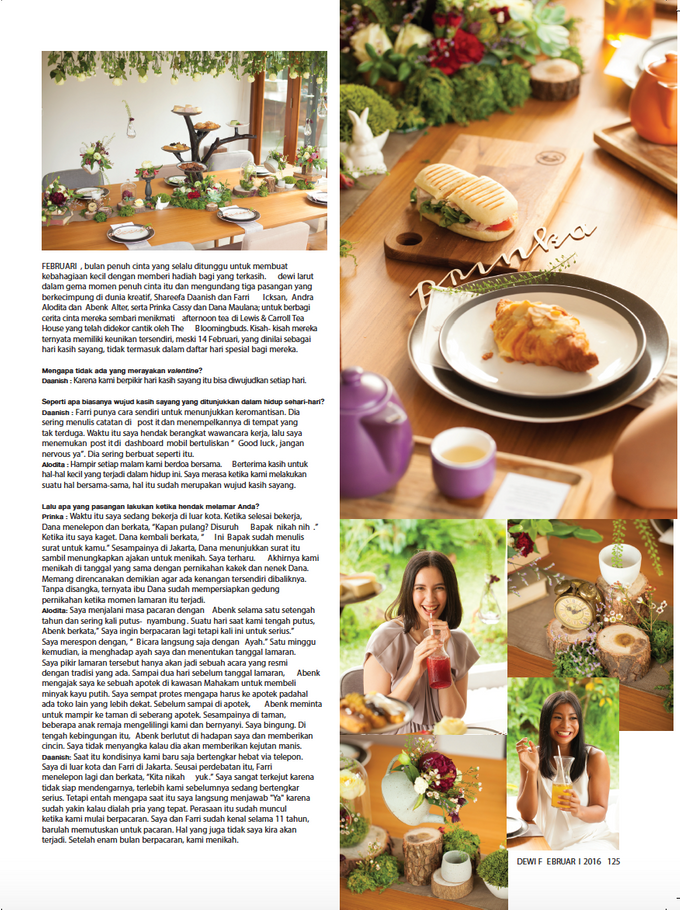 Mad Hatter Valentine Partea for Dewi Magazine by The Bloomingbuds - 003