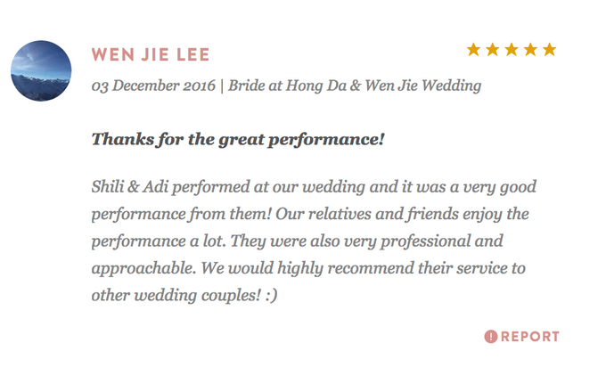 Testimonials from Wedding Couples by Merry Bees Live Music - 031