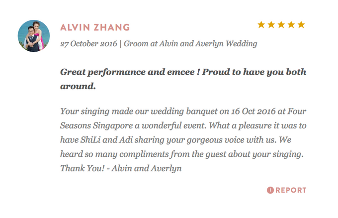 Testimonials from Wedding Couples by Merry Bees Live Music - 034