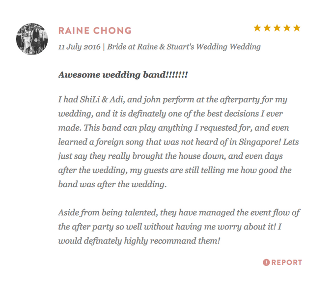 Testimonials from Wedding Couples by Merry Bees Live Music - 038