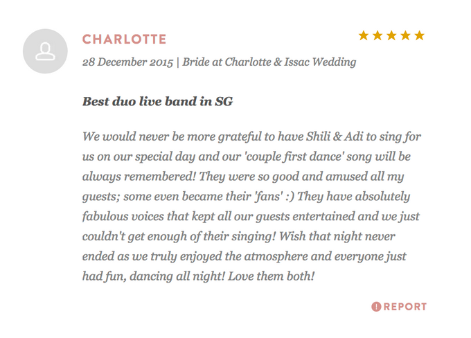 Testimonials from Wedding Couples by Merry Bees Live Music - 040