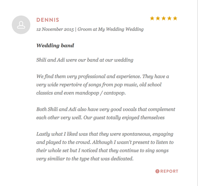 Testimonials from Wedding Couples by Merry Bees Live Music - 044
