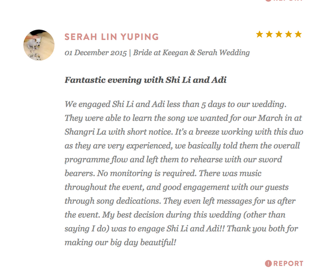 Testimonials from Wedding Couples by Merry Bees Live Music - 045
