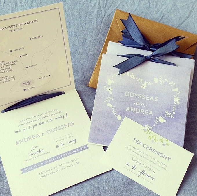Andrea & Odysseas Wedding by My Sweet Scarlett Paperie - 002