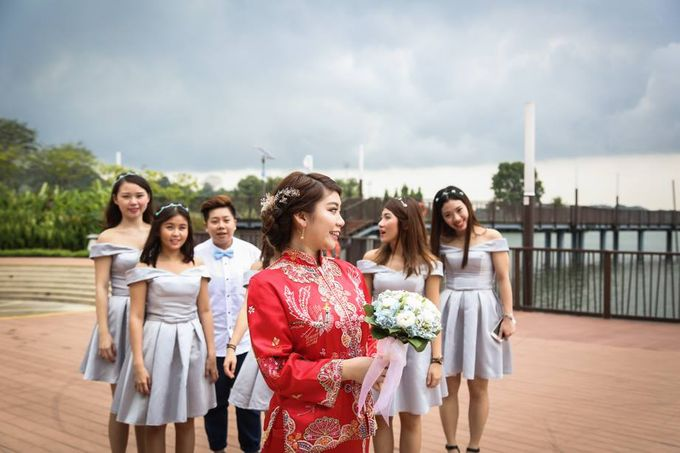 Actual Day Bridal Makeup and Hairstyling (Sharon + Zhi Xiong) - Romantic, Floral Bohemian Chic. by Sylvia Koh Makeup and Hairstyling - 012