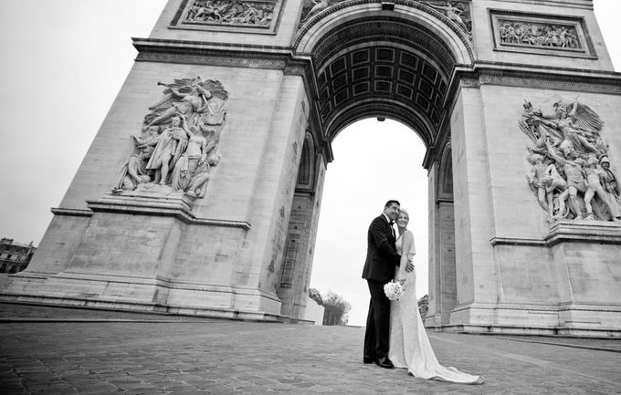 A romantic Parisian Wedding by gm photographics - 001