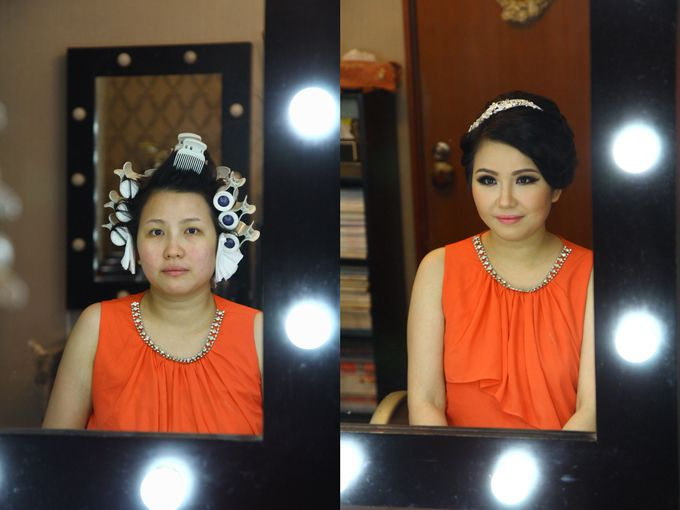 Makeup and Hairdo for Bride by Lee Cinthya Makeup Artist - 001