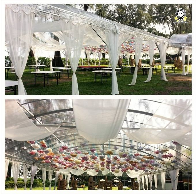 Tent Rental & Decoration for Garden Wedding by Glammories - 002
