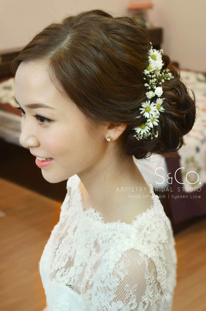 Bridal Hair Style by S & Co. Artistry Bridal Makeup Studio - 003
