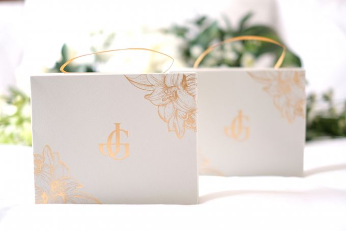 Gold Leaves by Forget Me Not Invitation - 005
