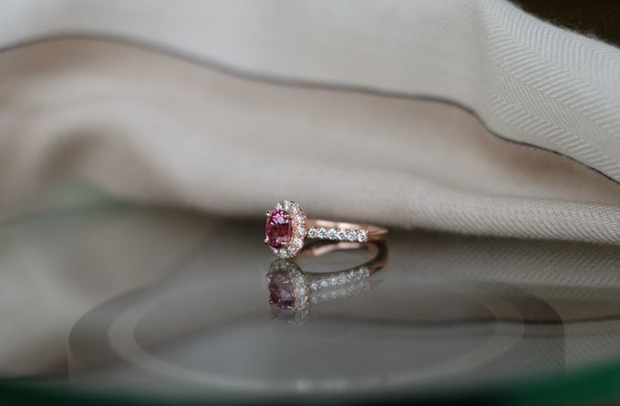 Pink Spinel Bespoke Engagement Ring by Heritage Gems Singapore - 004