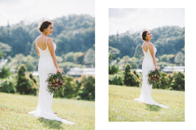 Hand beaded wedding dress with V neckline by Kelly's Bridals - 001