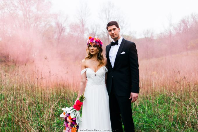 Summer Color Explosion Wedding Styled Shoot by Michelle Sanchie Photography - 002