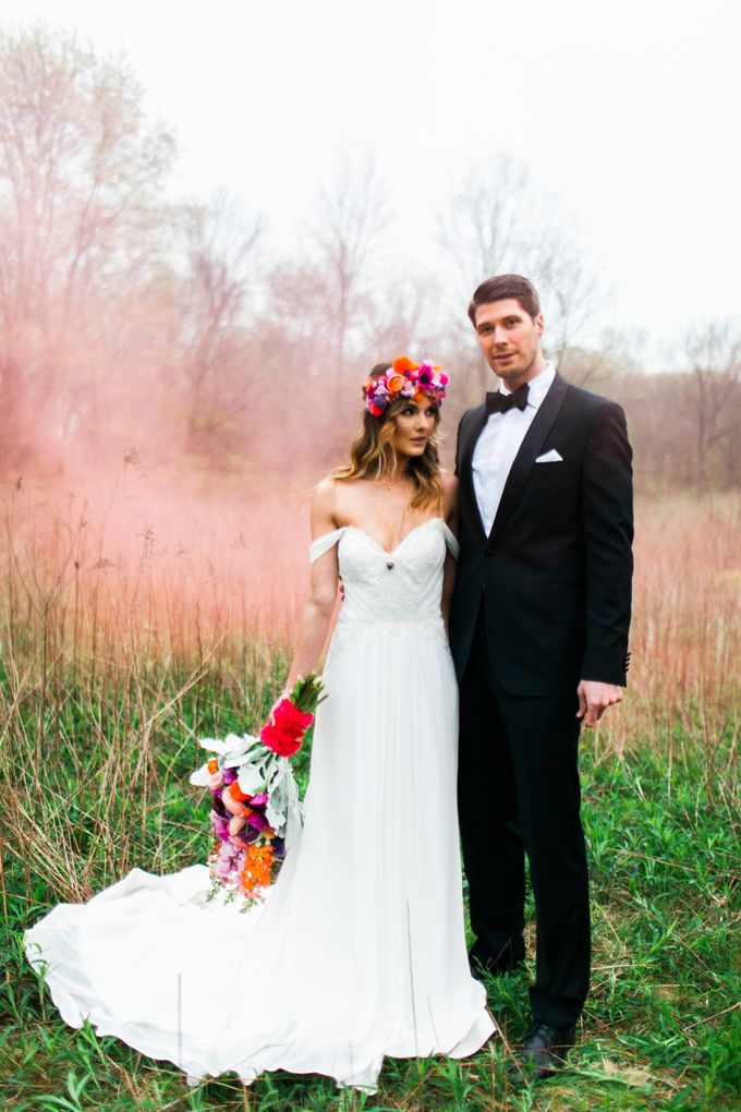 Summer Color Explosion Wedding Styled Shoot by Michelle Sanchie Photography - 003