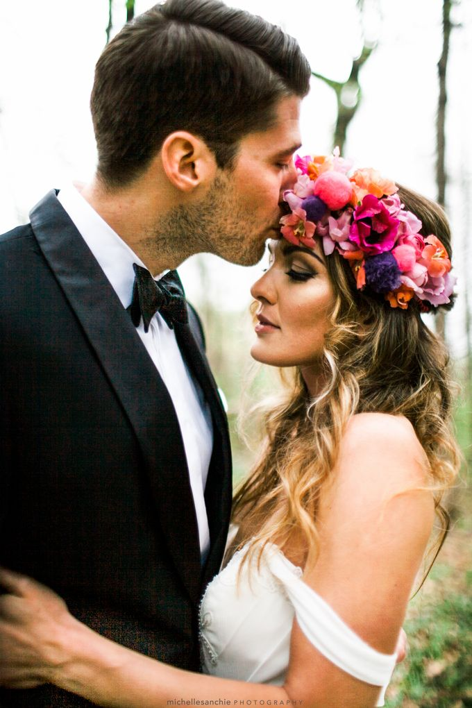 Summer Color Explosion Wedding Styled Shoot by Michelle Sanchie Photography - 005