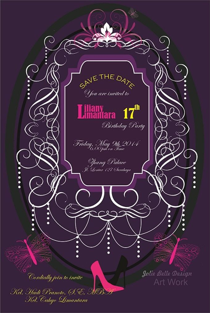 """Invitation & Gift Tag """"Thank You"""" by Jolie Belle - 003"""