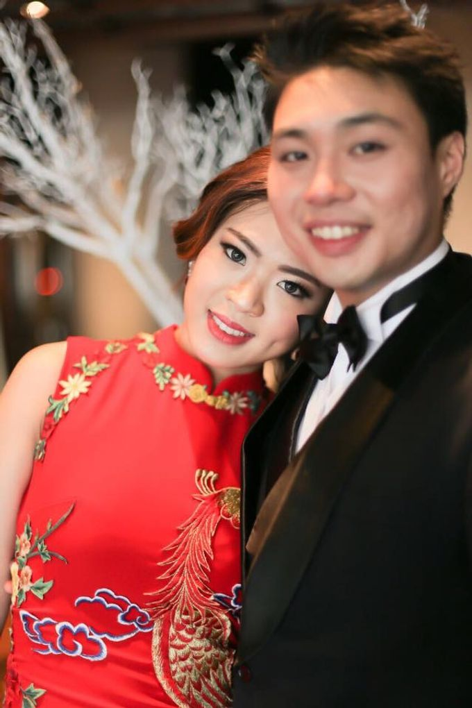 Actual Wedding Day of Sylvie & Kenneth by Lili Makeup Specialist - 003