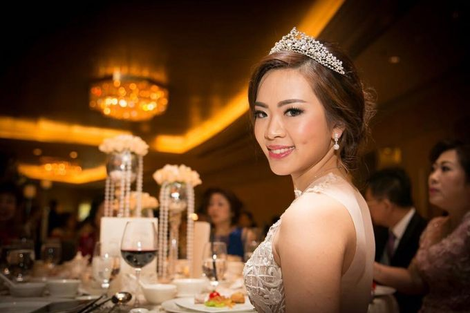 Actual Wedding Day of Sylvie & Kenneth by Lili Makeup Specialist - 005